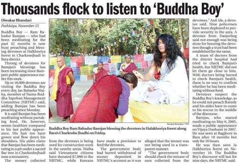 buddha-boy, himalayan times