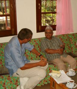con Padre Anthony Sharma, nella chiesa di Kathmandu