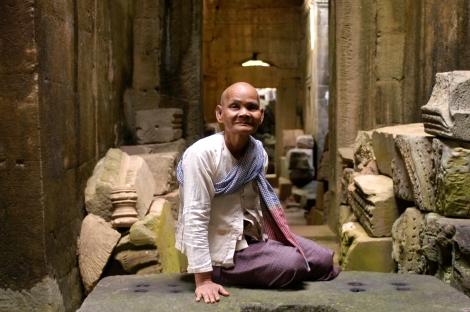 fra le rovine di Angkor-cambogia