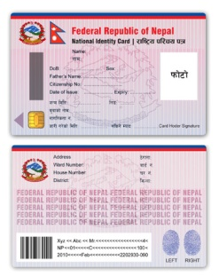 national identity card, nepal