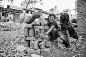 Nepal. terremoto, sorrisi