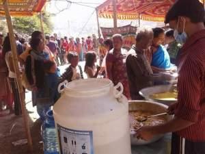 terremoto nepal, Sankhu,  cucina comunitaria