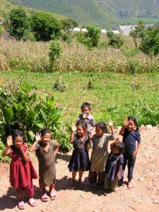 bambini, nepal, villaggi