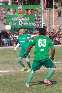 kathmandu, PM koirala playng football